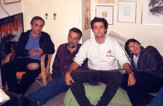 (από αριστερά) Σ. Τσιώλης, Α. Μπακιρτζής, Σ. Κακίσης, Χρ. Βακαλόπουλος