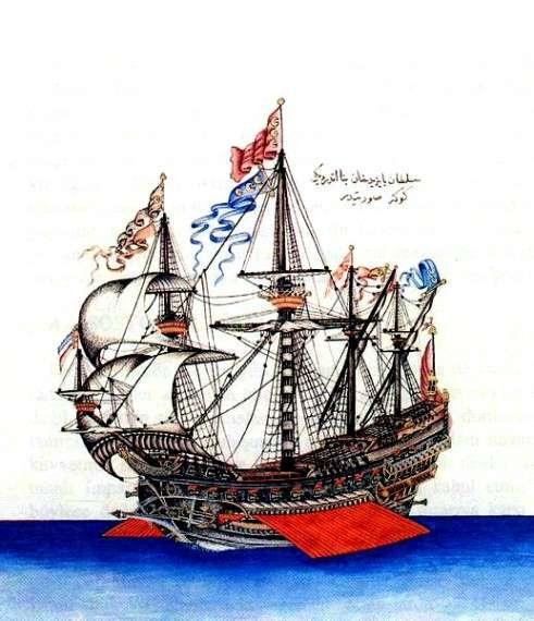Göke (1495) η ναυαρχίδα του Kemal Reis.