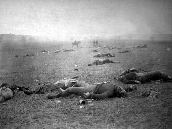 Φωτογραφία του Timothy H. O'Sullivan από το πεδίο της μάχης, Library of Congress, Prints & Photographs Division, LC-B8184-7964-A DLC.