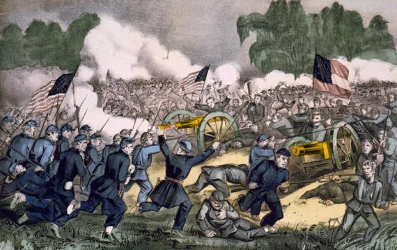 Η Μάχη του Γκέτυσμπεργκ (εκδ. Currier & Ives, περ. 1863)