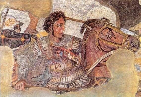 Ο Μέγας Αλέξανδρος νικά το Δαρείο στη μάχη της Ισσού.