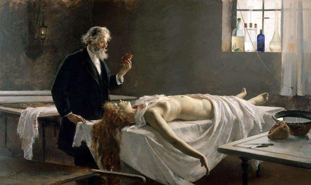 Ανατομία της καρδιάς (1890) από τον Enrique Simonet.