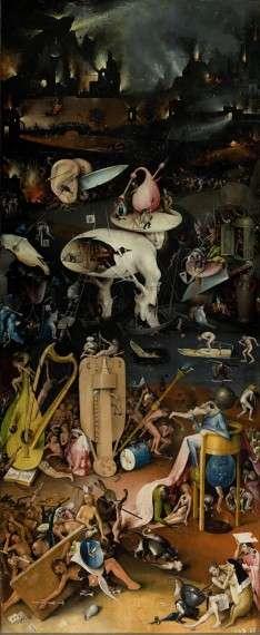 Ο Ιερώνυμος Μπος (Hieronymus van Aken, περ. 1450 - 9 Αυγούστου 1516) Ο κήπος των επίγειων απολαύσεων - Κόλαση