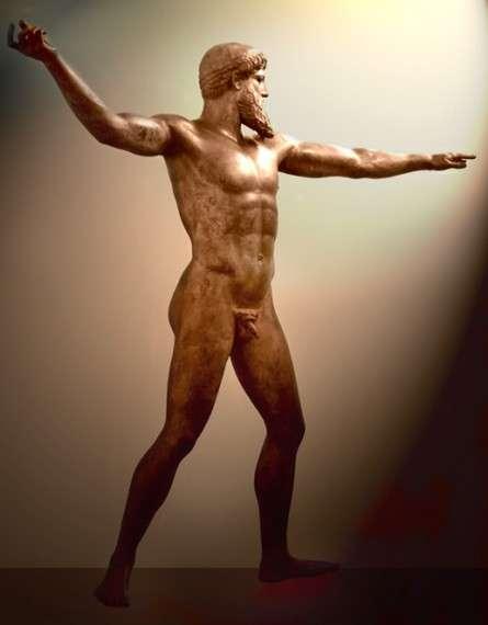 Από το 1994 άρχισε να γίνεται μία προσπάθεια να αφαιρεθούν ορισμένες αρνητικές αναφορές που αφορούν τους Έλληνες. Για παράδειγμα, ενώ μέχρι τότε οι Αρχαίοι Έλληνες παρουσιάζονταν με αρνητικά χαρακτηριστικά, όπως βάρβαροι, εισβολείς, χωρίς οίκτο («το 1200 π.Χ. βάρβαρες φυλές εισχώρησαν από το Βορρά στην περιοχή που στις μέρες μας λέγεται Ελλάδα. Αυτοί λεηλάτησαν, κατέστρεψαν και σκότωσαν χωρίς οίκτο τους κατοίκους. Οι Ρωμαίοι αποκάλεσαν αυτές τις άγνωστες φυλές Γραικούς»), αυτά τώρα αφαιρέθηκαν από τα βιβλία. Ποσειδώνας ή Δίας, γ. 460 π.Χ., Εθνικό Αρχαιολογικό Μουσείο, Αθήνα.