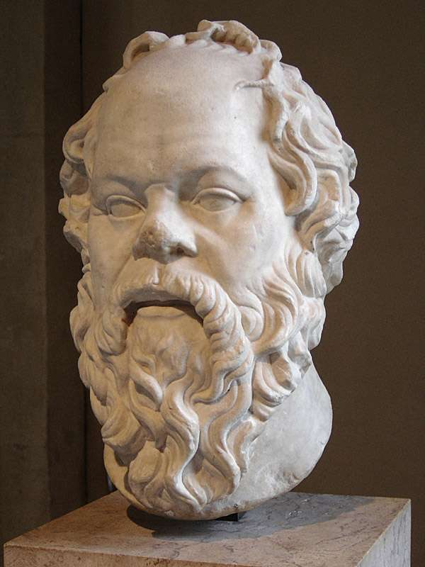 Ο Σωκράτης έζησε στην Αθήνα (το 470 π.Χ. ή 469 π.Χ. - 399 π.Χ.)