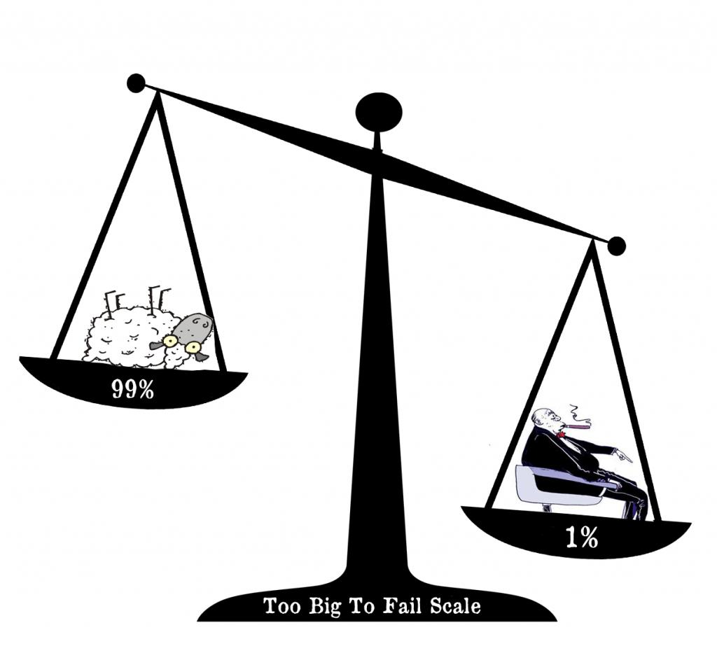 Το «too big to fail» δίνει στις εταιρείες μεγαθήρια μια πρωτόγνωρη ελευθερία κινήσεων. Μπορεί κάλλιστα να οριστεί ως «οικονομική ασωτία».