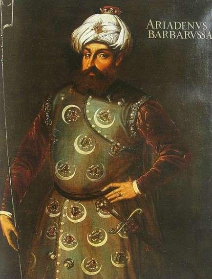 Barbarossa Hayreddin Pasha. πίνακας του 16ου αι.