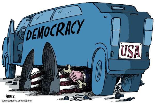 Μάθαμε τόσα χρόνια να λέμε πως η δημοκρατία είναι το άριστο πολίτευμα, πως η χώρα μας είναι μια δημοκρατική χώρα, πως ζούμε σε μια δημοκρατία κι εμείς είμαστε δημοκρατικοί πολίτες.