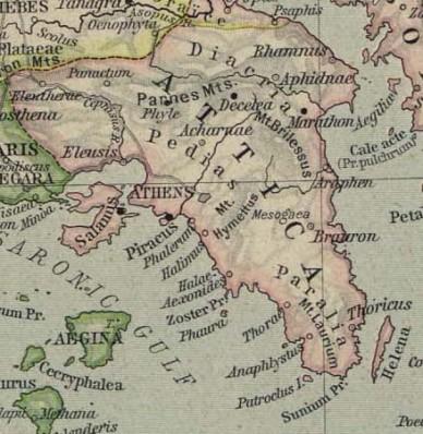 Χάρτης αρχαίας Αττικής