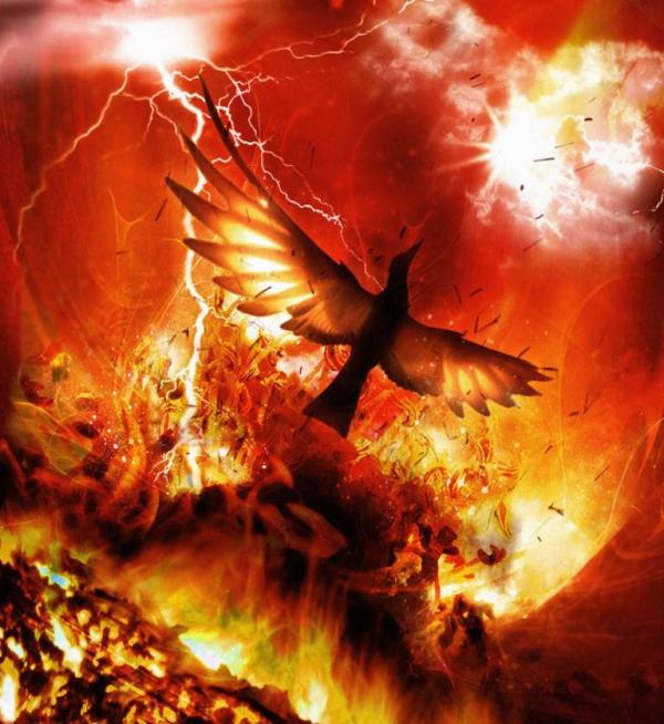 Ο Φοίνιξ (από το «φοινός» = πορφυρός, βαθυκόκκινος) είναι ένα μυθολογικό πουλί που ξαναγεννιέται απ' τις στάχτες του.