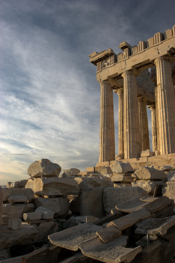 Η νότια πλευρά του Παρθενώνα, Αθήνα