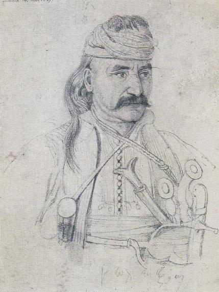 Ο Θεόδωρος Κολοκοτρώνης (3 Απριλίου 1770 – 4 Φεβρουαρίου 1843) ήταν Έλληνας κλέφτης, καπετάνιος, στρατηγός με πρωταγωνιστικό ρόλο στην Επανάσταση του 1821, πολιτικός, αρχηγός κόμματος, πληρεξούσιος, σύμβουλος της Επικράτειας. Έμεινε γνωστός και ως Γέρος του Μοριά. Σκίτσο του P. Miller of Vermont