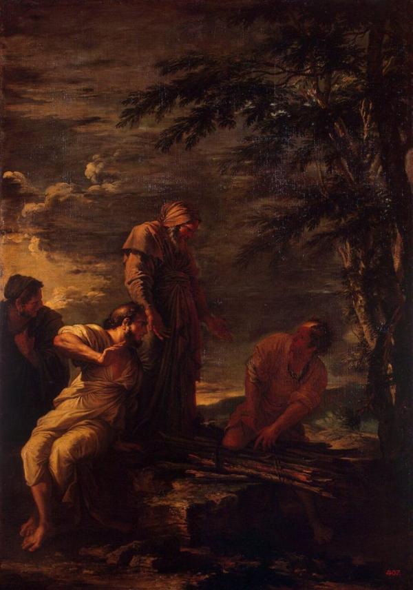 Ο Δημόκριτος (κέντρο) και ο Πρωταγόρας (δεξιά), Salvator Rosa. Democritus (center) and Protagoras (right) by Salvator Rosa