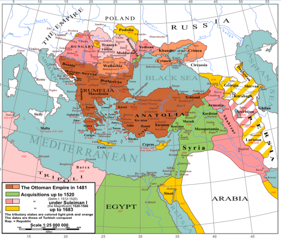 Οι κατακτήσεις του Σουλεϊμάν Α ''ακολούθησαν συνεχή εδαφική επέκταση μέχρι το 1590.