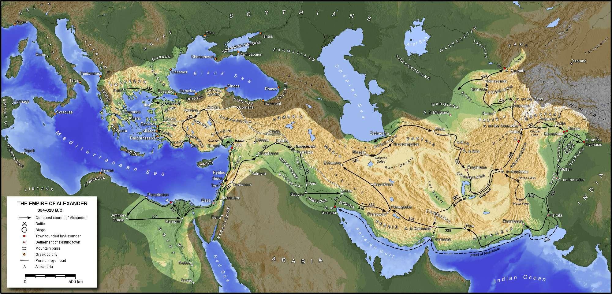 Αλέξανδρος ο Μακεδών: Οι κατακτήσεις