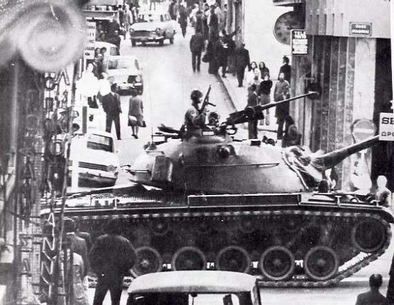 Άρμα μάχης στους δρόμους της Αθήνας, 21 Απριλίου 1967