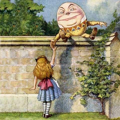 Διαμέσω του καθρέπτη. Παραμύθι της Lewis Carroll. ΄Ετος: 1872. H Αλίκη και ο Χάμπτυ Ντάμπτυ