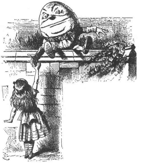 Διαμέσω του καθρέπτη. Παραμύθι της Lewis Carroll. ΄Ετος: 1872. H Αλίκη και ο Χαμ- πτυ Νταμπτυ
