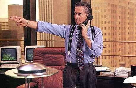 Ο Michael Douglas ενσάρκωσε τον στυγνο καπιταλιστή Gordon Gekko στην ταινία του Oliver Stone, Wall Street.