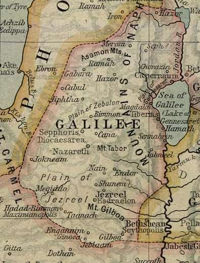 Xάρτης της Γαλιλαίας γύρω στο 50 μ.Χ.