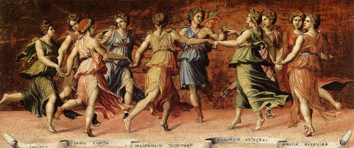Ο χορός του Απόλλωνα με τις Μούσες. Dance of Apollo and the Muses, Baldassare Peruzzi