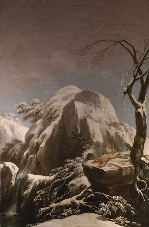 Prometheus Chained on the Snowy Peaks of the Caucasus by Francesco Foschi (1710–1780)