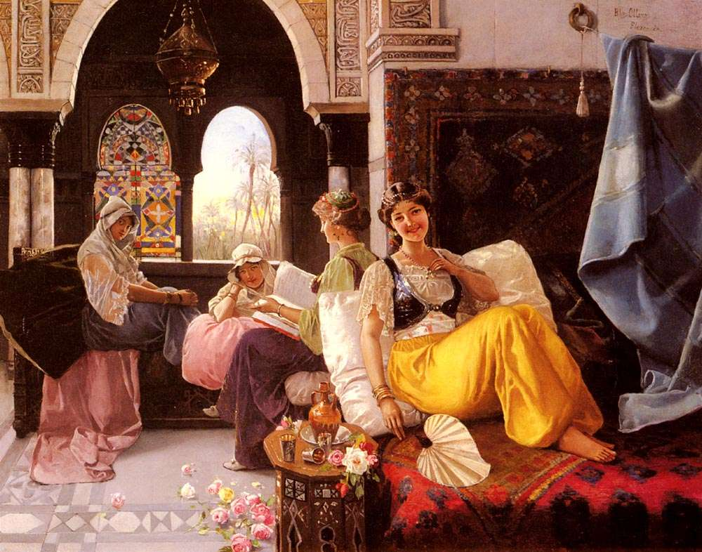 Σκηνή στο χαρέμι. Harem Scene, Quintana Olleras, 1851-1919, Spanish