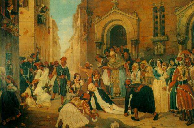Η δολοφονία του Καποδίστρια (πίνακας του Διονύσιου Τσόκου)