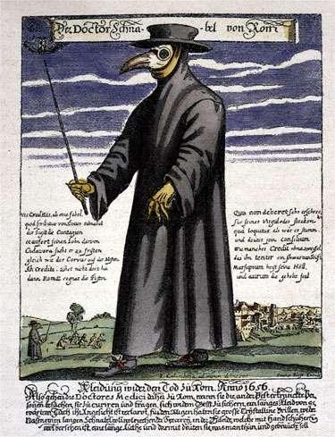 Γιατρός του μεσαίωνα για την αντιμετώπιση της πανώλης.