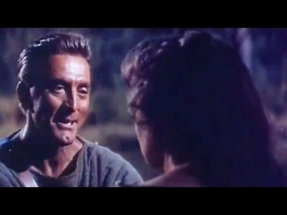 Kirk Douglas as Spartacus in Spartacus (1960) (Source : The Official Trailer)