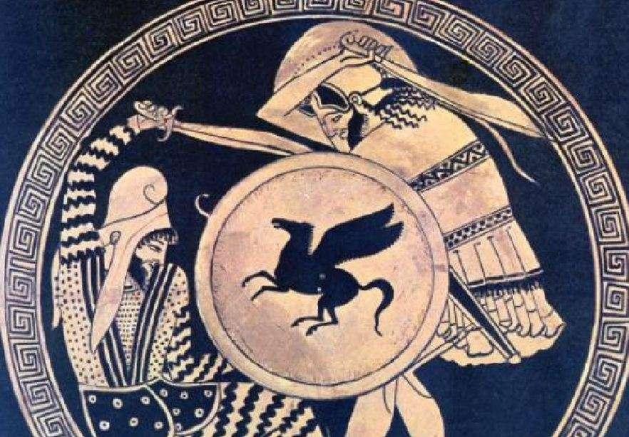 Έλληνας οπλίτης και Πέρσης πολεμιστής μονομαχούν