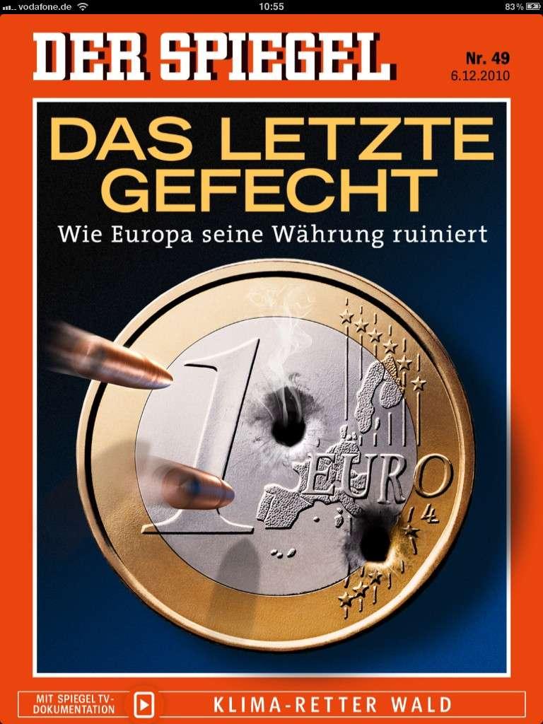 Der Spiegel (Ο Καθρέφτης) είναι ένα εβδομαδιαίο περιοδικό που εκδίδεται στο Αμβούργο της Γερμανίας. Εξώφυλλο.