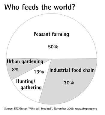 Σχεδόν το μισό της παγκόσμιας παραγωγής τροφίμων προέρχεται μικρής κλίμακας αγρότες