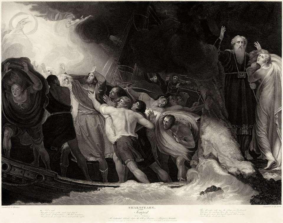 """""""Η Φουρτούνα"""" (The Tempest). Γκραβούρα για το ομώνυμο έργο του William Shakespeare. Αρχείο: George Romney."""