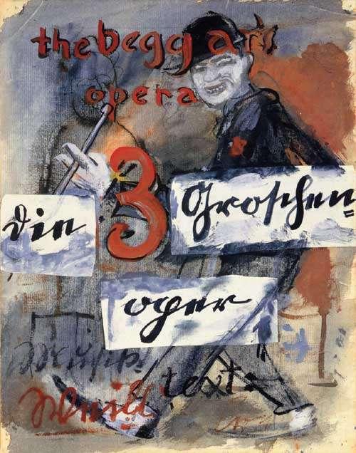 Die Dreigroschenoper, γνήσια αφίσα από το Βερολίνο, 1928.