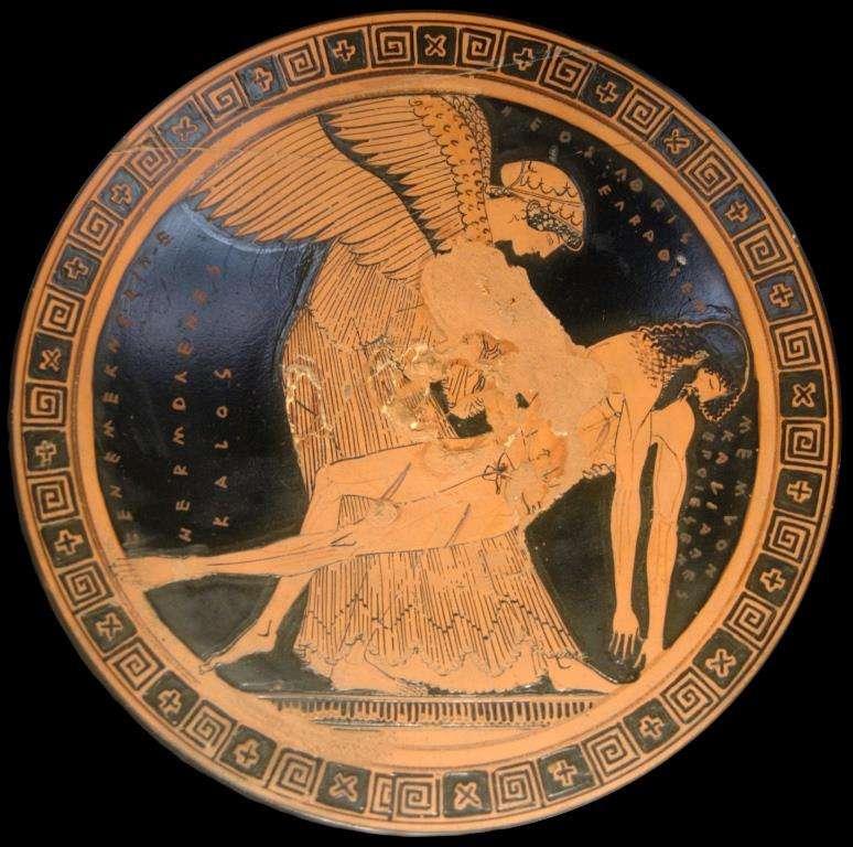 Αττικό ερυθρόμορφο κύπελλο, 490-480 π.Χ