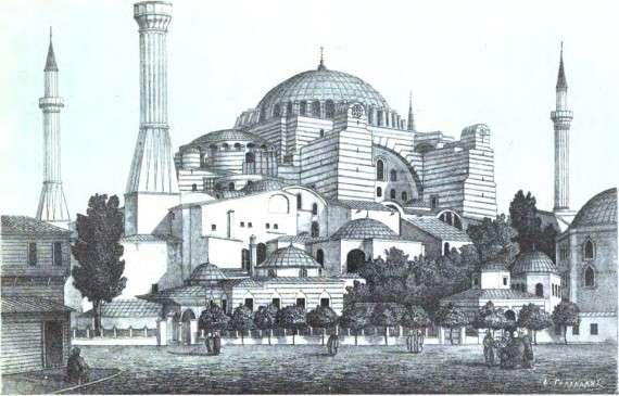 Σχέδιο της Αγίας Σοφίας το 1877