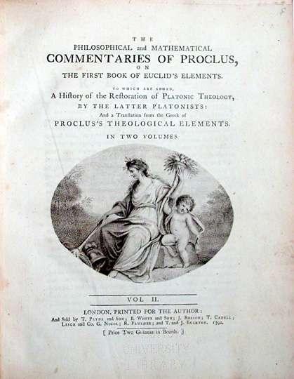 Εξώφυλλο βιβλίου έκδοσης 1791 για τον Πρόκλο