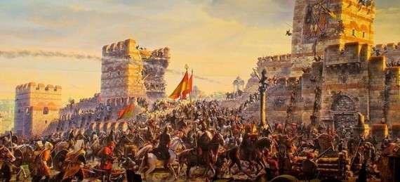 Σκλάβωσαν τους κατοίκους της Πόλης, σκότωσαν τον αυτοκράτορά τους και οι γαζίδες (πολεμιστές) έβαλαν χέρι στα κορίτσια των χριστιανών. ... την πρώτη Παρασκευή μετά την κατάκτηση έψαλαν τις ευχαριστίες τους στην Αγιά Σοφιά.