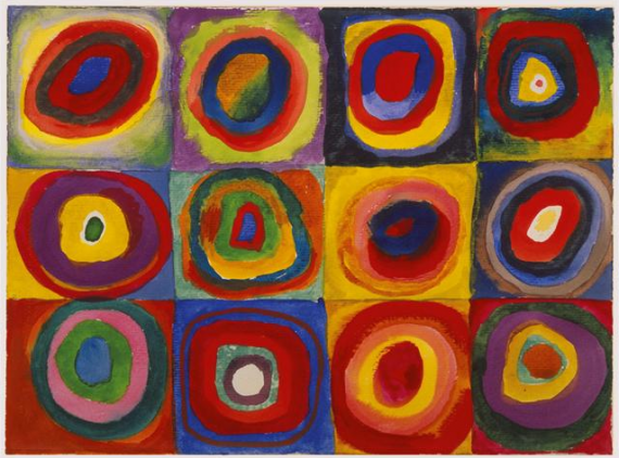 Color Study: Squares with Concentric Circles, 1913 Wassily Kandinsky