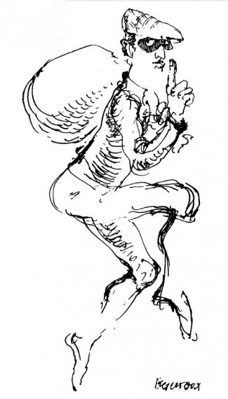 """Σκίτσο από το """"Εγχειρίδιον του Καλού Κλέφτη"""" (εκδ.Νεφέλη-1979)"""