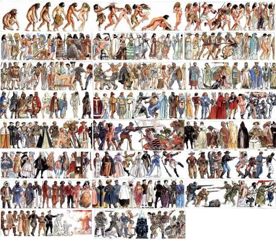 Milo Manara's amazing illustration of human history