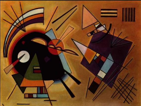 Black and Violet, 1923 Wassily Kandinsky