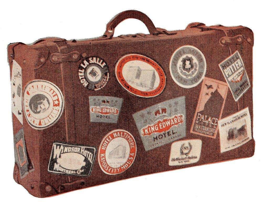 Παλιά βαλίτσα ταξιδιού