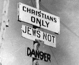 Πινακίδα με αντισημιτικό μήνυμα κάπου στη Δυτική Ευρώπη