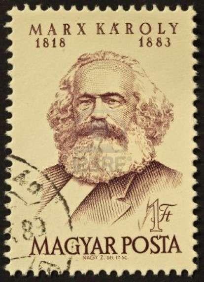 Ο Καρλ Χάινριχ Μαρξ (Karl Heinrich Marx) (Τριέρη 1818- Λονδίνο 1883), γραμματόσημο