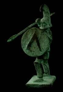 Σπαρτιάτης οπλίτης. Αγαλματίδιο του 5ου αι. π.Χ.
