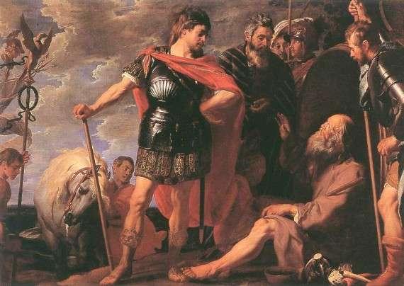 Αλέξανδρος και Διογένης, Caspar de Crayer (1650 μ.Χ.)