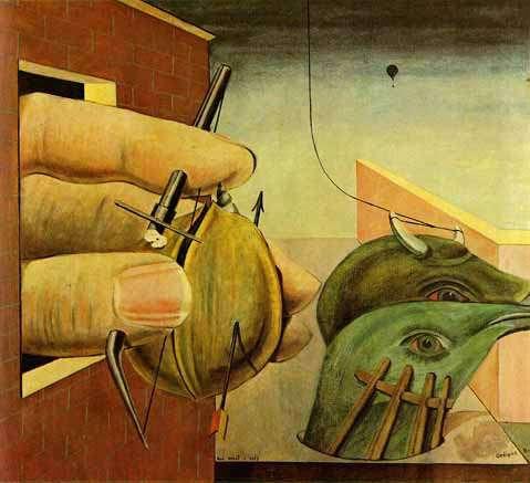 Max Ernst, Οιδίπους, ελαιογραφία (1922).