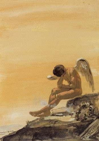 """Γιάννης Τσαρούχης, """"Πνεύμα που πενθεί"""", 1966."""